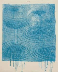 colin-vian:    David Hockney , Rain, from 'The Weather Series',...