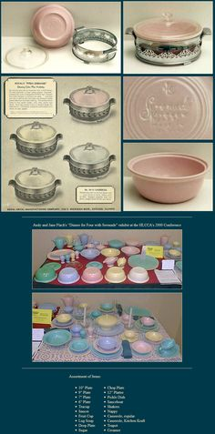 Promotinal Sereande Kitchen Kraft Casserole for Royal Metal. Most often the lids are glass Pyrex, but standard Kitchen Kraft lids in the pastel glazes have also been found.  Besides the standard four glazes, Serenade KK casseroles were made in Fiesta's light green and plain white.