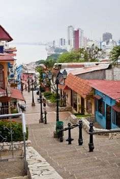 Here's a view of colorful buildings in Guayaquil, a city close to Young Living Academy.