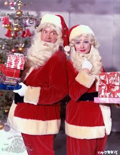 "Bob Hope Claus and Lucy Claus Publicity Photo for the 1960 film, ""The Facts of Life"""