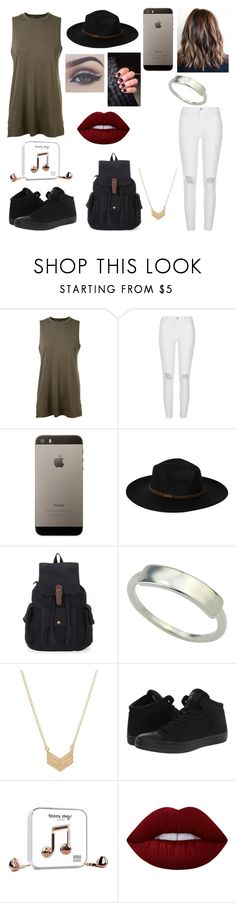 """""""Untitled #93"""" by gebertgirl02 on Polyvore featuring Alexandre Vauthier, River Island, Billabong, Essentia By Love Lily Rose, Bellezza, Converse, Happy Plugs and Lime Crime"""