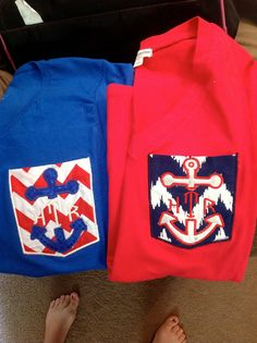 nautical pocket chevron tees t-shirt anchor initials personalized on Etsy, $20.00
