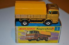 Matchbox Lesney Superfast No 1 Gold Mercedes Truck - Mint + Boxed - http://www.matchbox-lesney.com/49752