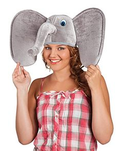 ebdf3be9 Elephant Hat Adults Fancy Dress African Zoo Animal Mens Ladies Costume  Accessory