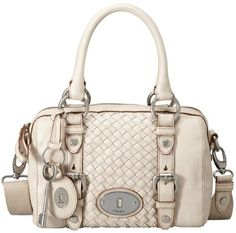 Maddox Woven Leather Small Satchel - Lyst
