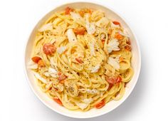 """Men's Health have come up with this 'Insomnia-beating crab linguine'. """"Speed up your journey to the land of nod with this blend of shut eye-inducing ingredients to build muscle in your sleep."""""""