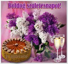 szülinapi képek, képeslapok, rózsák, torták, köszöntők Name Day, Purple Rain, Fantasy Art, Happy Birthday, Table Decorations, Flowers, Safe Search, Google, Chrome
