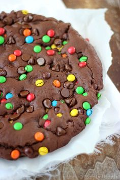 Giant Double Chocolate Cookie with SimplyGloria.com #chocolate