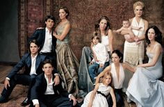 Carolina Herrera Family Portrait for Vogue, August 2004 issue.