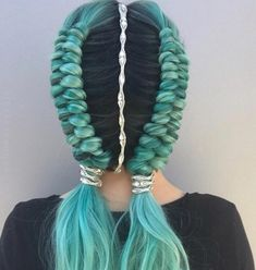 "Festival hair inspo, double dutch infinity braids ✌🏼 // Hair HairJewelry style ""Morgan"" ✨ Fantastic hairstyle by… Braided Hairstyles, Cool Hairstyles, Creative Hairstyles, Wedding Hairstyles, Beautiful Hairstyles, Teenage Hairstyles, Hairstyles 2018, Popular Hairstyles, African Hairstyles"