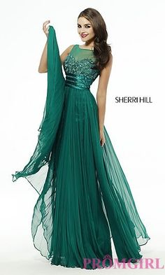 Sleeveless Floor Length Pleated Sherri Hill Dress. Shop the look: http://www.promgirl.com/shop/dresses/viewitem-PD1349377