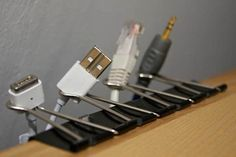 Creative Ways To Reuse Old Stuff - Paper clips for cables