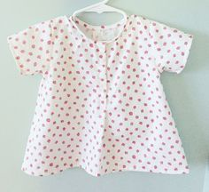 Strawberry Blouse | Oliver + S Lullaby Layette sewing pattern