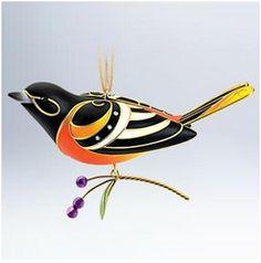 2011 Beauty of Birds Baltimore Oriole Hallmark Ornament | Keepsake Ornament Club Ornaments at Hooked on Hallmark Ornaments