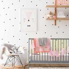 Set of Polka Dots Wall Stickers - Wall Stickers