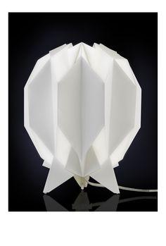 KURA Tischleuchten Weiß Holz Papier