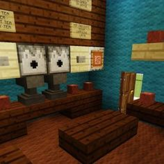 Awesome potions and enchanting room very nicely decorated for Minecraft coffee table
