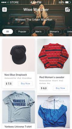 eCommerce app by Bunin Mobile Web Design, App Ui Design, Material Design, Layout Online, Minimalist Web Design, Ecommerce App, App Design Inspiration, Design Ideas, Smartphone