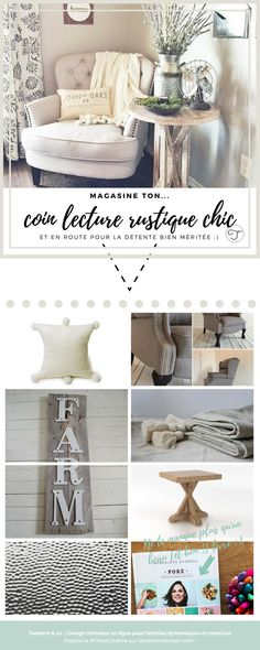 { Un coin lecture rustique chic parfait pour relaxer - Tandem & co- Room, Deco, Master Bedroom, New Homes, Entryway Tables, Farhouse, Home Decor, Board Design, Home Deco