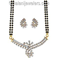 Diamond Tantalizing Mangalsutra 18 Karat Gold. SKU # 362-01169 http://www.malanijewelers.com/diamond-mangalsutra.aspx?size=24