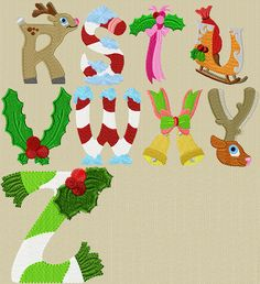 letter y christmas design Embroidery Alphabet, Embroidery Fonts, Machine Embroidery Designs, Christmas Embroidery Patterns, Applique Patterns, Christmas Activities, Christmas Crafts, Commercial Embroidery Machine, Christmas Alphabet