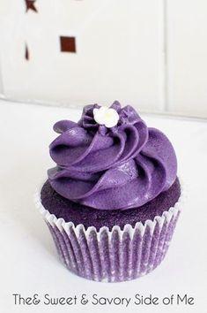 ube cupcake (purple yam cupcake)