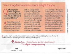All YOU article on Long Term Care Insurance