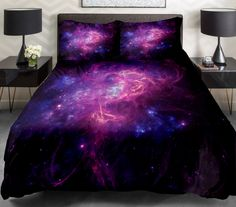 galaxy duvet covers bedding sets with luxury  bedspreads & 2 Pillow cover bedding collections for girls bedding dorm bedding
