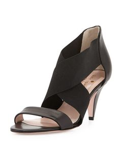alicia crisscross stretch sandal, black by kate spade new york at Neiman Marcus.