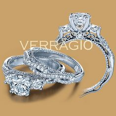 Verragio Venetian-5013R-4 18 Karat Engagement Ring for about $4200
