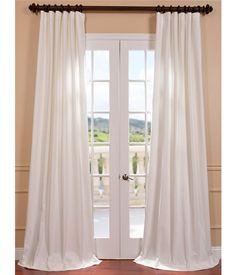 Buy Aged White Cotton Twill Curtain & Drapes - HalfPriceDrapes