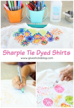 Sharpie Tie Dyed Shirts