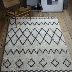 Jake and I both really like this rug because it's a good blend of our styles: textured and quirky for me, neutral palette and not-too-out-there for him!  It also looks like it'd be cozy underfoot :)