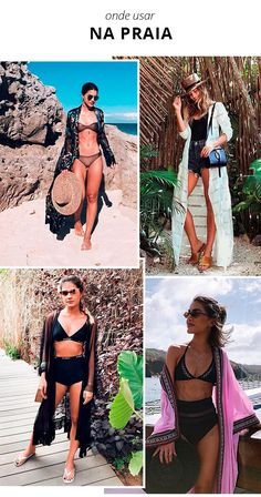 O Guia Definitivo de Como Usar Kimono Look Kimono, Beachwear, Swimwear, Summer Trends, Summer Looks, What To Wear, Ideias Fashion, Pin Up, Cover Up