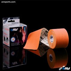 ARES KINESIOLOGY TAPE UNCUT 5CM X 5M ORANGE www.aresports.com