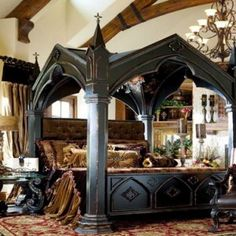 95 Awesome Gothic Bedroom Design Ideas 2019 - Home Design Ideas