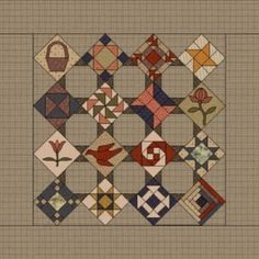 FREE weekly applique quilt project on primitivequiltsandprojects.com !