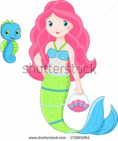 Mermaid - stock vector