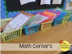 The Teachers' Cauldron: How I Manage Math Centers Math Classroom, Kindergarten Math, Teaching Math, Classroom Ideas, Teaching Ideas, Math Strategies, Math Resources, Math Activities, Math Games