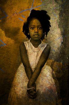 little girl, art