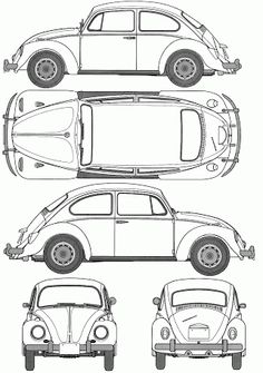 Volkswagen Beetle 1200 Type 1 blueprints, vector drawings, clipart and pdf templates Beetles Volkswagen, Volkswagen Karmann Ghia, Volkswagen Golf, Vw Bus, Vw Camper, Beetle Drawing, Kdf Wagen, Beetle Car, Vw Vintage
