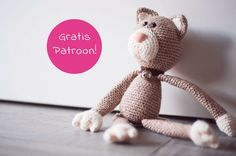 Crochet cuddly toys - meow little kitty - Handarbeiten - Amigurumi Crochet Cat Toys, Crochet Cat Pattern, Free Crochet, Knit Crochet, Crochet Patterns, Ravelry Crochet, Free Pattern, Brown Cat, Little Kitty