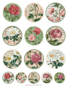 Vintage Roses and Bees Image Kit - TGF Premium! - The Graphics Fairy