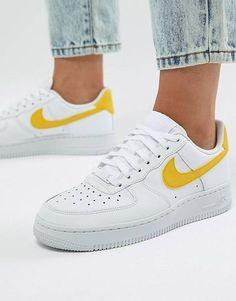Sweet throwback style defines a head-turning sneaker stamped with bold branding and featuring a low-cut collar for freedom of movement. Style Name:Nike Air Force 1 3 Sneaker (Men). Style Number: Available in stores. Nike Air Force Ones, Air Force One Shoes, Nike Air Force 1 Outfit, Nike Trainers, Sneakers Nike, Yellow Sneakers, Yellow Trainers, Discount Sneakers, Shopping