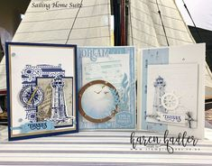 This video is about Embossing Paste and Stencils with Come Sail Away Suite. I show you how to make your own stencils with different product, and how to colou. Make Your Own Stencils, Laser Cut Paper, Ireland Vacation, Ireland Travel, Stampin Up Catalog, Sail Away, New Things To Learn, Masculine Cards, Culture Travel