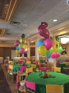 aloha party to you! Hawaii Birthday Party, Aloha Party, Hawaiian Luau Party, Tropical Party, Beach Party, Flamingo Party, Flamingo Birthday, Flamingo Beach, Moana Themed Party