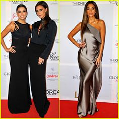 Victoria Beckham & Eva Longoria: Global Gift Gala 2013!  Victoria and Eva are wearing Victoria Beckham dresses.  I don't know who Nicole Scherzinger is wearing, but she looks gorgeous.