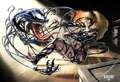 #Venom #Fan #Art. Venom Vs Gwen Stacy) By: WIZYAKUZA. (THE * 5 * STÅR * ÅWARD * OF: * AW YEAH, IT'S MAJOR ÅWESOMENESS!!!™)[THANK Ü 4 PINNING!!!<·><]<©>ÅÅÅ+(OB4E)