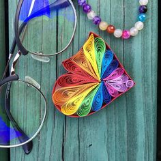 """Rainbow Quilling Heart by """"New """"Baby Step"""" in progress🥰 I really love making this heart❤️🌈 . Paper Quilling For Beginners, Quilling Art, Baby Steps, All Art, Paper Art, New Baby Products, Artworks, Rainbow, Love"""