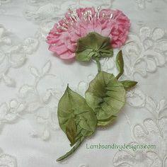 Frill edge French ribbonwork flower | lambsandivydesigns.com | Flickr